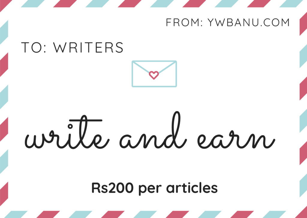 write and earn in India