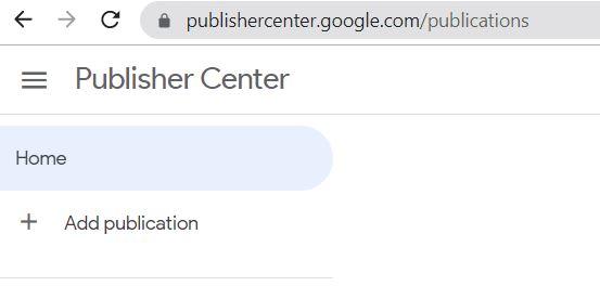 Google News Publish Center